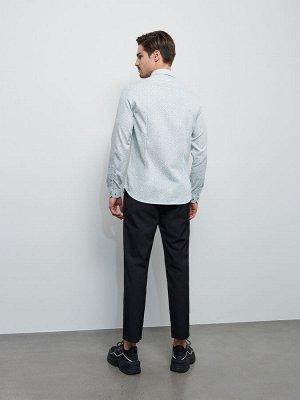 Рубашка из ткани с мелким узором