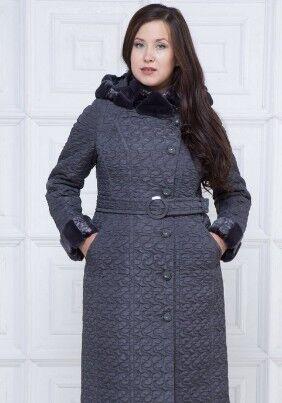 Пальто Пальто женское из плащевой стеганой ткани с водоотталкивающей пропиткой.  Рост: 168 Силуэт: прилегающий Размерная сетка: маломерит на размер Утеплитель: шерстикрон 150 г./кв.м., синтепон 100 г.