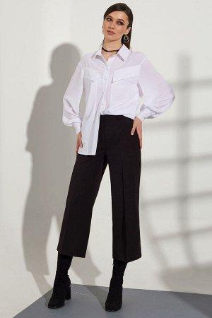 Рубашка Рубашка Golden Valley 2244  Состав ткани: ПЭ-97%; Спандекс-3%;  Рост: 170 см.  Блузка с центральной застежкой на петли и пуговицы, втачным воротником с отрезной стойкой. По переду с фигурными