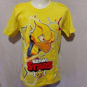 Светящаяся футболка «Brawl stars» Ворон   желтая