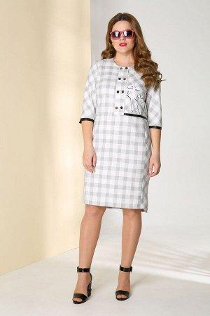 Платье Платье Golden Valley 4316-1 кремовое с черным  Рост: 170 см.
