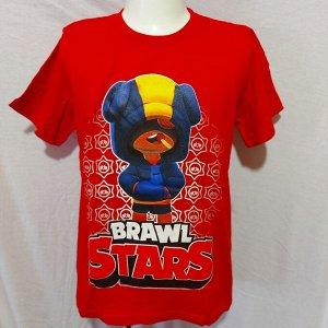 Светящаяся футболка «Brawl stars» Лион красная