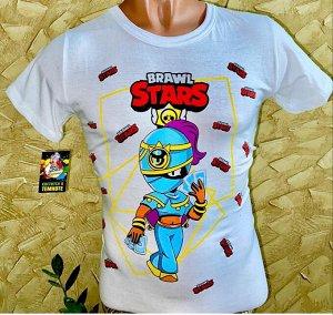 Светящаяся футболка «Brawl stars» Тара белая