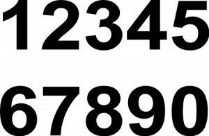 Цифры. Простой шрифт