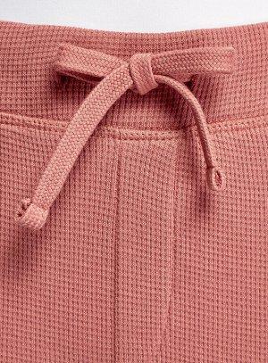 Брюки домашние на завязках Розовый