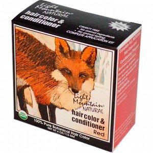 Light Mountain, Органическое натуральное средство для окрашивания и ухода за волосами, рыжий оттенок, 113 г, (4 унции)