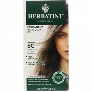 Herbatint, Стойкая гель-краска для волос, 6C, темный пепельный блондин, 135 мл (4,56 жидк. унции)