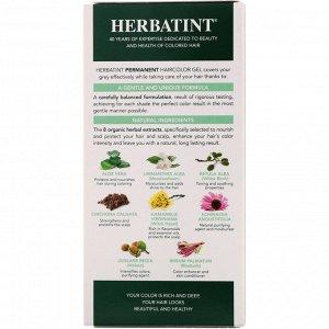 Herbatint, Стойкий растительный гель-краска для волос, 4C, пепельный каштан, 4,56 жидких унций (135 мл)