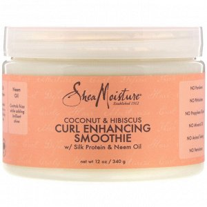 SheaMoisture, Curl Enhancing Smoothie, Coconut & Hibiscus, 12 oz (340 g)
