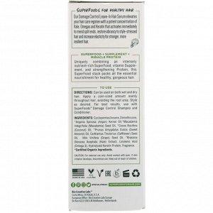Petal Fresh, Pure, SuperFoods for Hair, Damage Control Leave-In Hair Serum, Kale, Omega 3 & Keratin, 2 fl oz (60 ml)