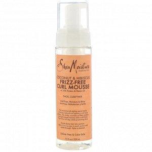 SheaMoisture, Кокос и гибискус, разглаживающий мусс для вьющихся волос, 220 мл (7,5 жидк. унции)