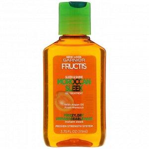 Garnier, Fructis, Sleek & Shine, Moroccan Sleek, масло для волос, 111 мл