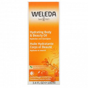 Weleda, Hydrating Body & Beauty Oil, Sea Buckthorn Extracts, 3.4 fl oz (100 ml)