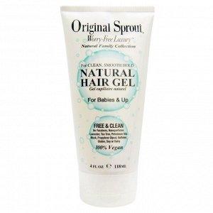 Original Sprout, Натуральный гель для волос, для младенцев и старше, 4 жидких унции (118 мл)