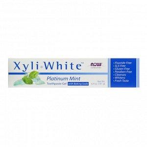 Now Foods, Solutions, XyliWhite, зубная гель-паста, мята, 181 г (6,4 унции)