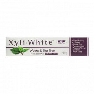 Now Foods, Solutions, XyliWhite, зубной гель, ним и чайное дерево, 181 г (6,4 унции)