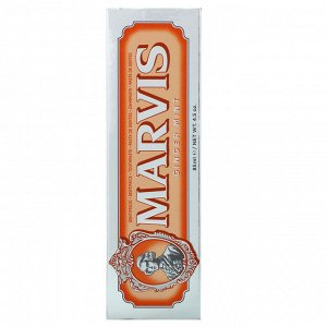 Marvis, Fluoride Toothpaste, Ginger Mint, 4.5 oz (85 ml)