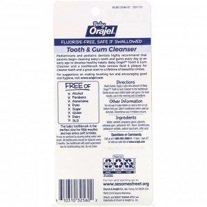 Orajel, Elmo Tooth & Gum Cleanser, Fluoride-Free, 3-24 Months, Bright Banana Apple, 1 oz (28.3 g)