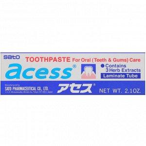 Sato, Acess, зубная паста для ухода за ротовой полостью, 60 г