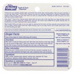 Orajel, Elmo Tooth & Gum Cleanser, Fluoride-Free, 3-24 Months, Fruity Fun, 0.7 oz (19.8 g)
