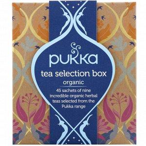 Pukka Herbs,  Набор органического чая, 9 травяных чаев, 45 чайных пакетиков