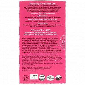 Pukka Herbs, Elderberry & Echinacea, 20 Fruit Tea Sachets, 1.41 oz (40 g)