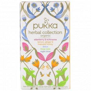 Pukka Herbs, Коллекция органического травяного чая, 20 пакетиков травяного чая, 1,21 унции (34,4 г)