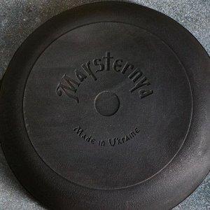 Сковорода чугунная литая, 280 х 60 мм, со стеклянной крышкой, премиум набор
