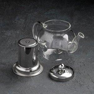 Чайник заварочный «Калиопа», 400 мл, с металлическим ситом