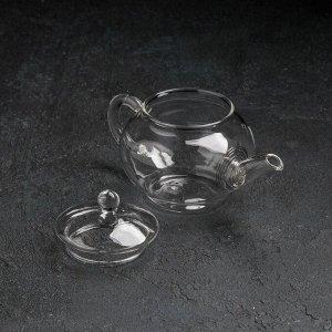 Чайник заварочный «Клео», 250 мл, с металлическим ситом, сито МИКС