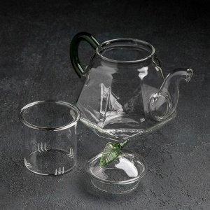 Чайник заварочный «Грин», 600 мл, со стеклянным ситом