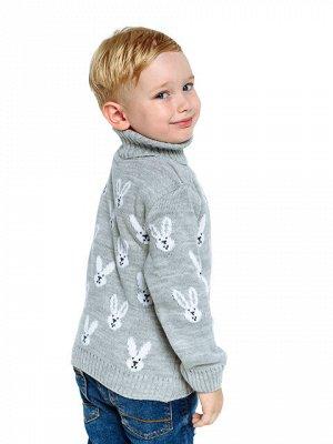 Свитер Количество в упаковке: 1; Артикул: ТРИС-860/; Цвет: Серый; Ткань: Пряжа; Состав: 50% шерсть,50% акрил; Цвет: Серый Свитер детский с жаккардовым рисунком