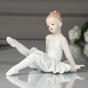 """Сувенир керамика """"Малышка-балерина в белой пачке"""" 11х14х9,2 см"""