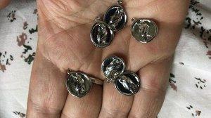 Фурнитура подвеска Сова серебро