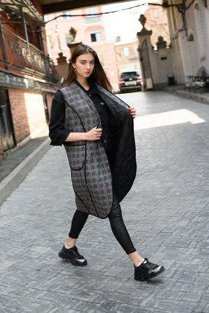 Пальто-трансформер (двойка) black/gray