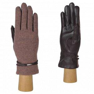 Перчатки, комбинированная кожа, FABRETTI 33.2-17 lilac