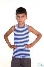 Майка-тельняшка детская ГОСТ ВДВ (голубая) вязанное полотно