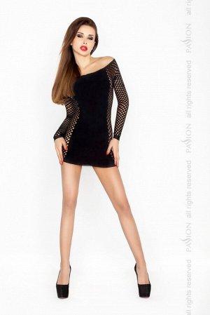 Чёрное платье Кокетка SL