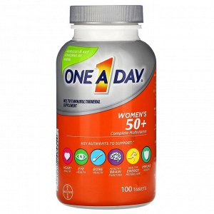 One-A-Day, Women&#x27 - s 50+, Complete Multivitamin, 100 Tablets