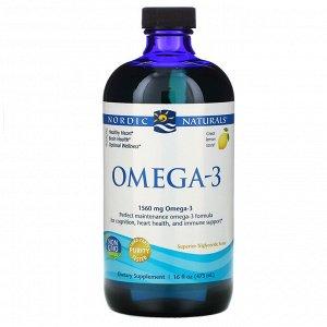 Nordic Naturals, Омега-3 со вкусом лимона, 1560 мг, 473 мл (16 жидк. унций)