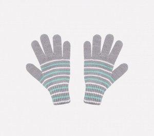 Перчатки детские Crockid К 145 светло-серый меланж, светлая бирюза