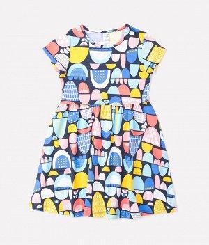 Платье для девочки Crockid К 5646 цветные холмики к1254