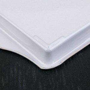 Поднос «Лаванда», 21,5х14,5х2 см, металлический