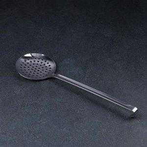 Шумовка цельнометаллическая, d=12 см, 41 см, толщина 3 мм