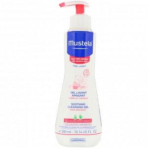 Mustela, Очищающий и успокаивающий крем, для очень нежной кожи малыша, 10,14 ж. унц. (300 мл)