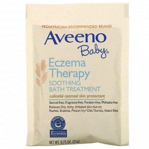 Aveeno, Успокаивающее средство для принятия ванн при экземе у детей, без запаха, 5 пакетиков, 106 г (3,75 унций)