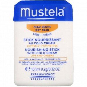 Mustela, Baby, питающий стик с холодным кремом, для сухой кожи, 10,1 мл