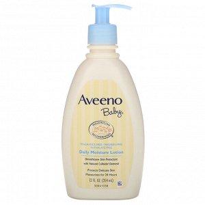 Aveeno, Baby, увлажняющий лосьон для ежедневного применения, без запаха, 354 мл (12 жидк. унций)