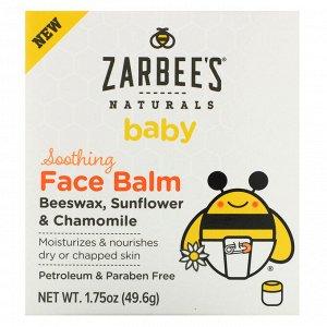 Zarbee&#x27 - s, Baby, успокиавающий бальзам для лица, 49,6 г (1,75 унции)