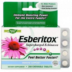 Nature's Way, Esberitox, Supercharged Эхинацея, 200 жевательных таблеток